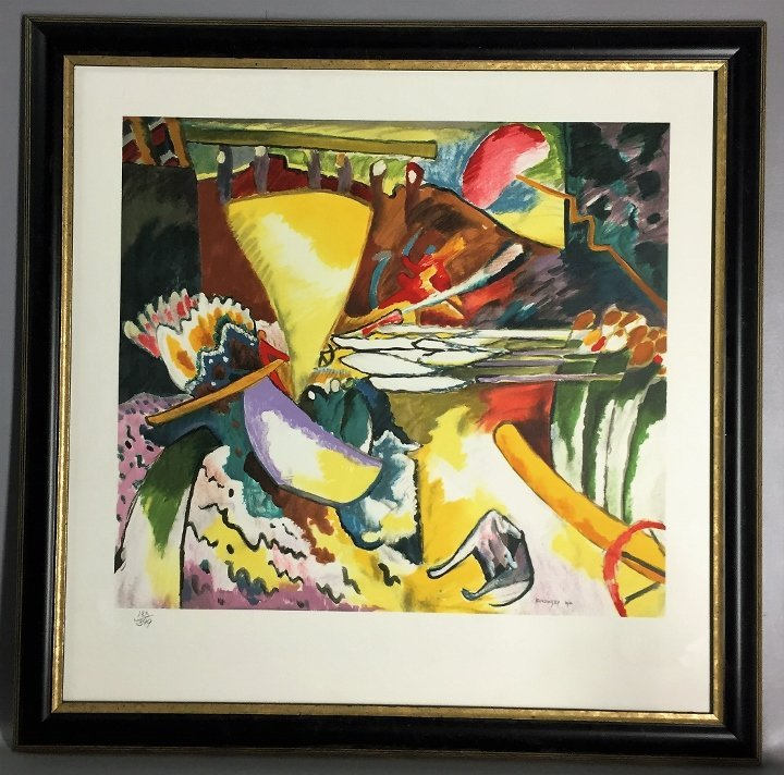 Kandinsky Litho with certif dry seal of Russia  Museum
