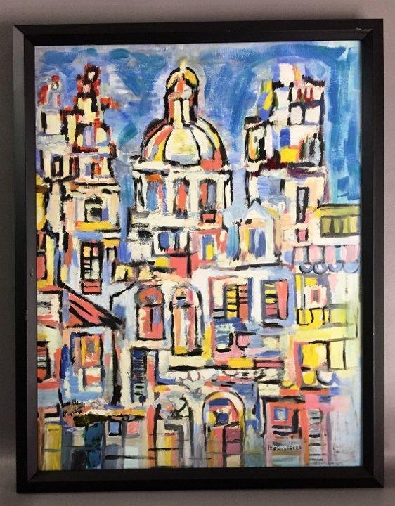 Rene Portocarrero Oil on Canvas