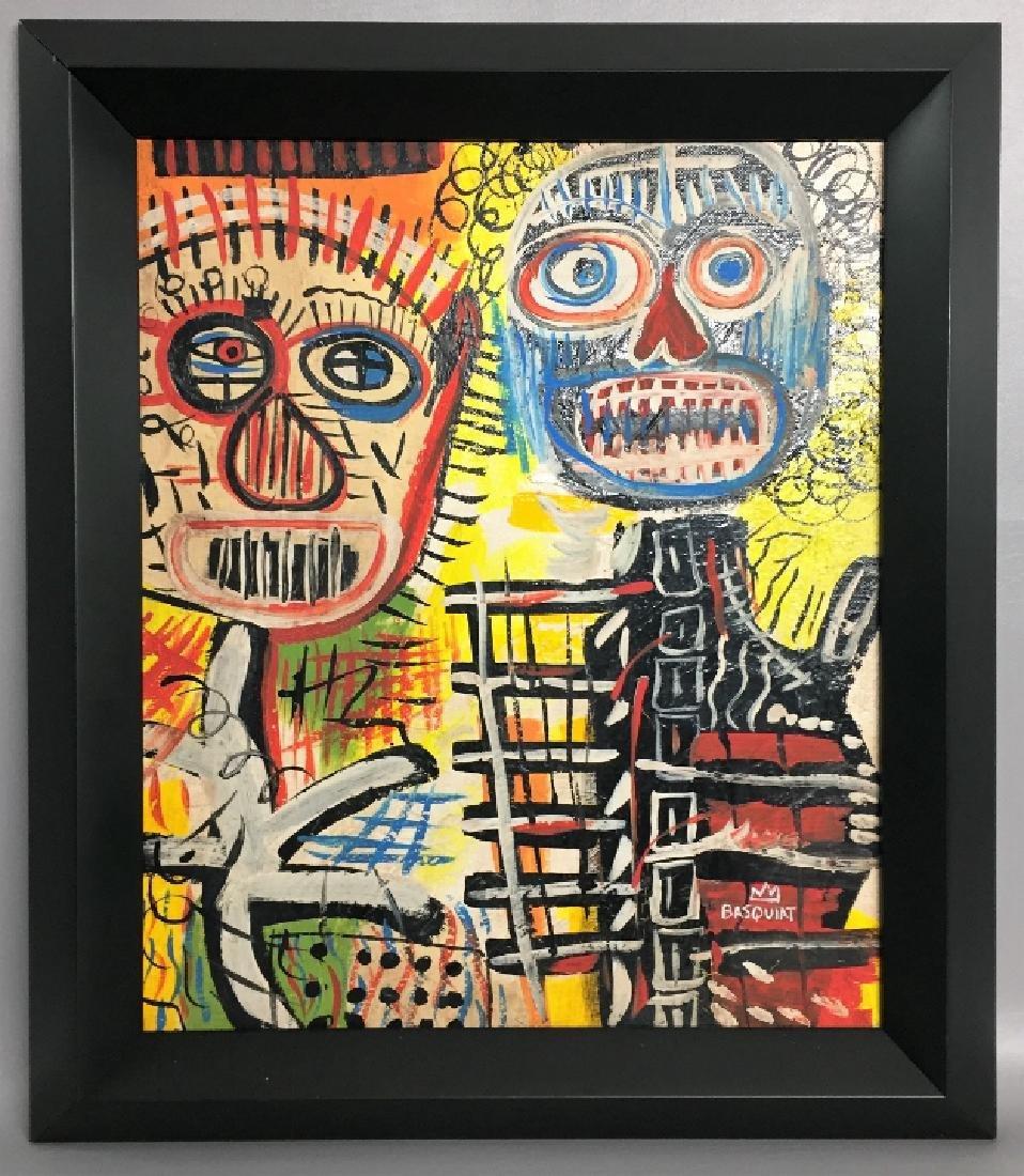 Jean-Michel Basquia Oil on board