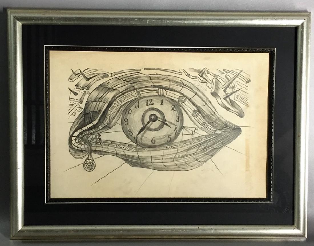 Salvador Dali  Graphite on paper
