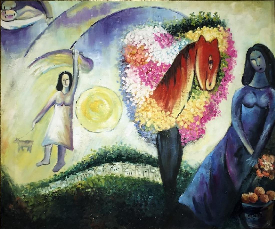 Marc Chagall Oil on Canvas