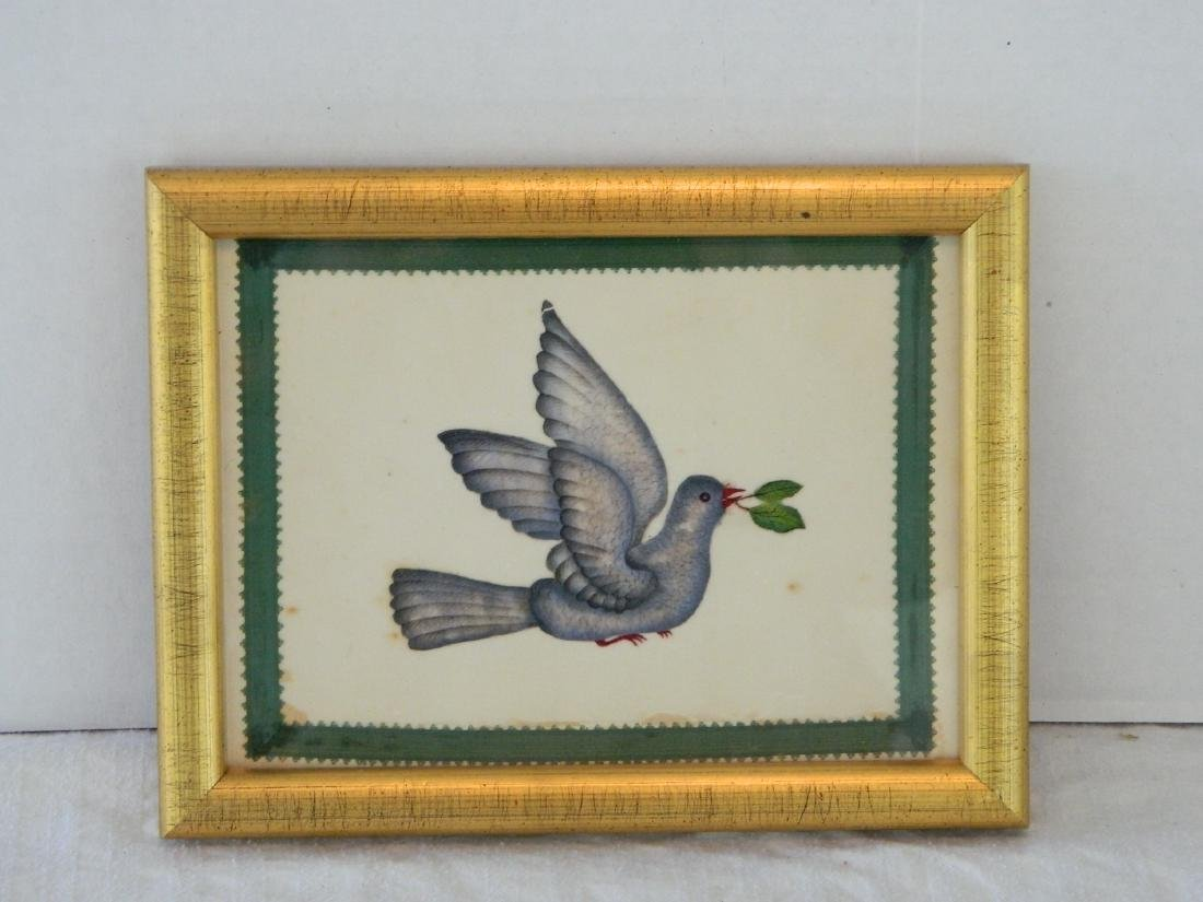 Bird Watercolor on Paper - Mid 19th Century