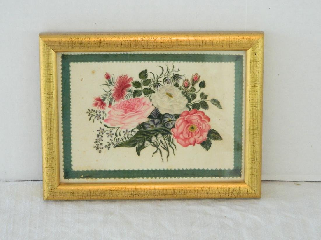 Mid 19th Century Chinese Watercolor of Roses