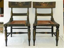 Pair of Federal Child's Baltimore Fancy Chairs