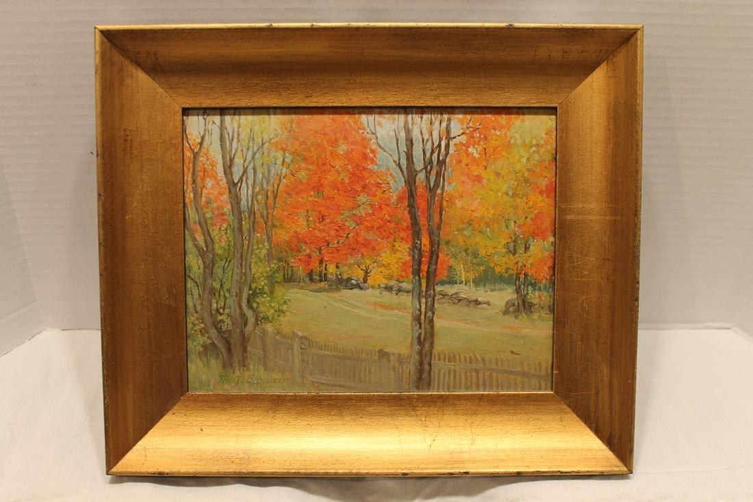 Mid 20th Century New Hampshire Landscape, Oil on board,