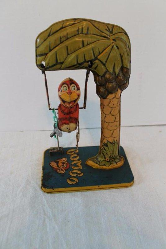 Bombo The Monkey Tin Litho Toy