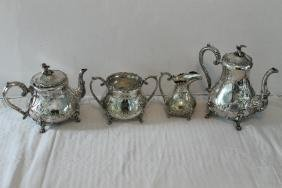 4 Piece Victorian Silverplate, Coffee/Tea Service, with