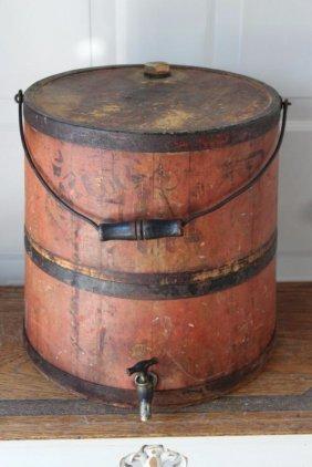 19th Centrury Wood Kerosene Bucket