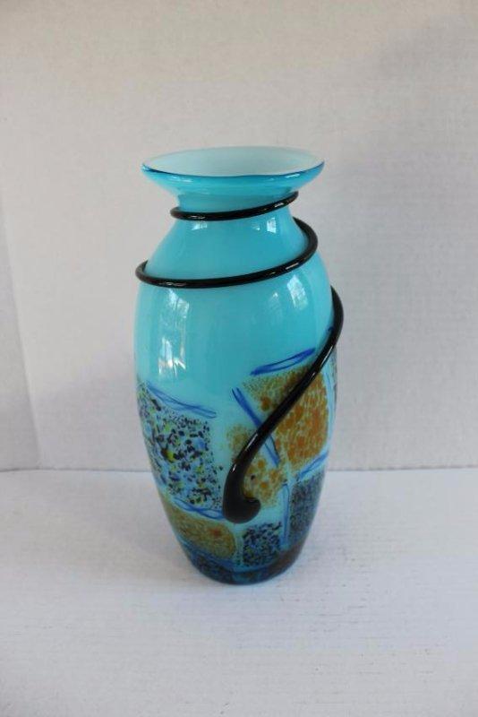 Cased Glass Mid-Centruy Modern Vase