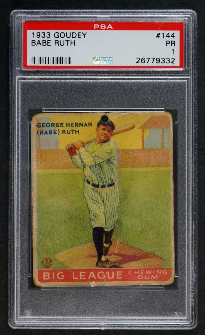 1933 Goudey 144 Babe Ruth PSA 1