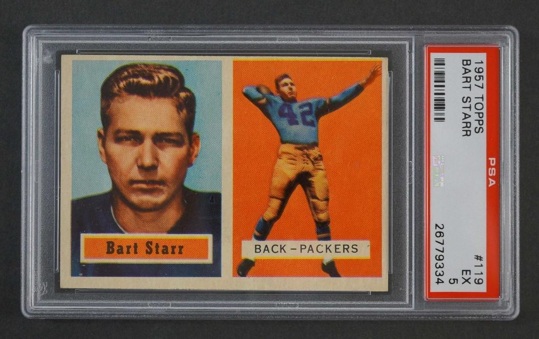 1957 Topps Bart Starr RC PSA 5