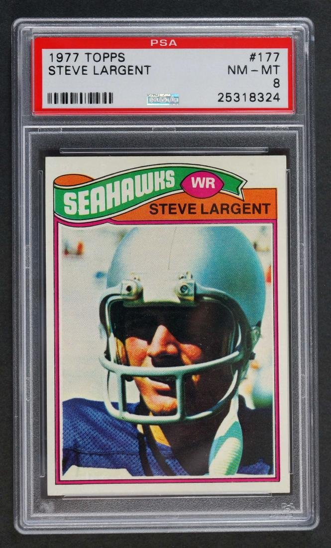 1977 Topps Steve Largent RC PSA 8