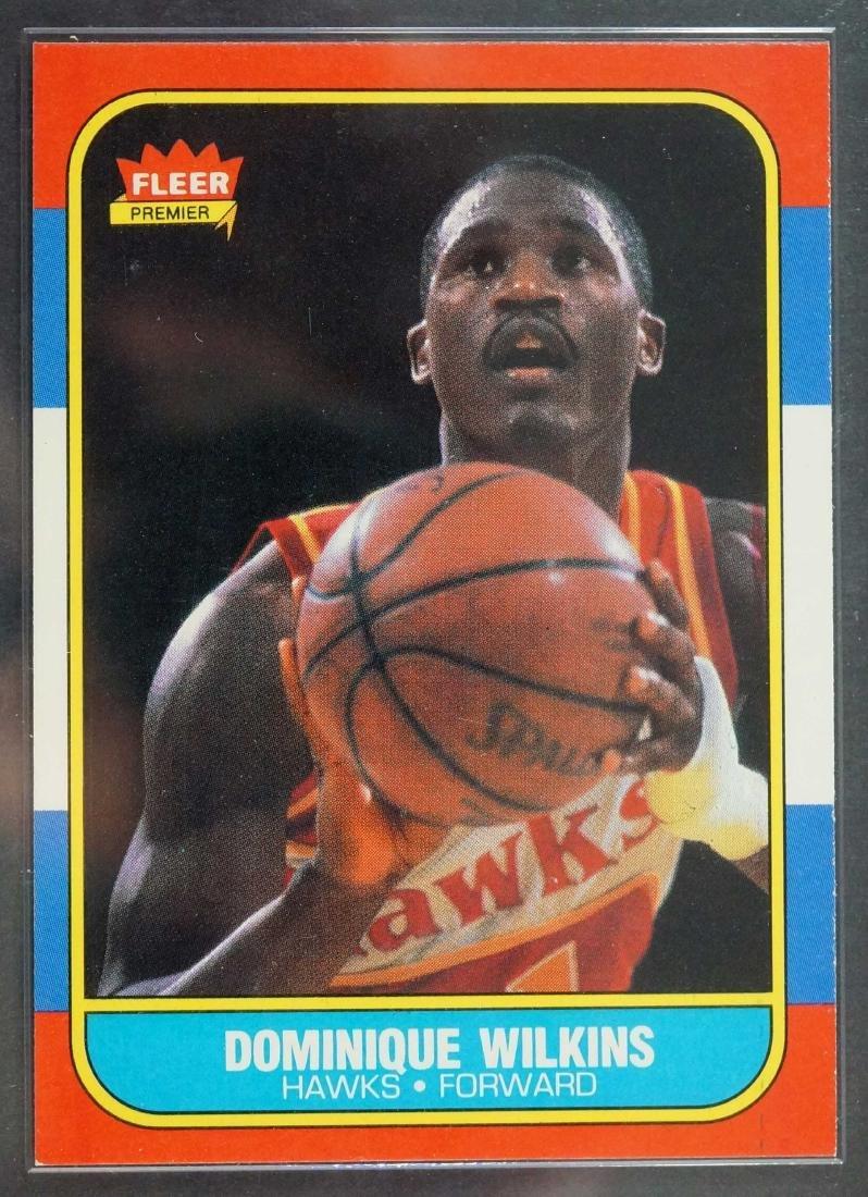 1986-87 Fleer Basketball Dominique Wilkins RC