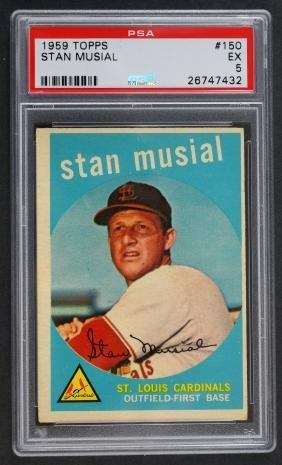1959 Topps Stan Musial PSA 5