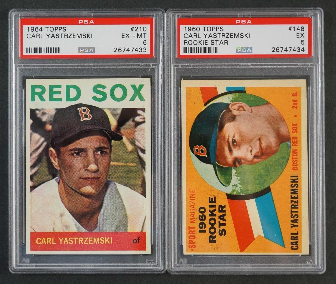 Carl Yastrzemski 1960 & 1964 Topps Cards PSA 5/6