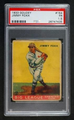 1933 Goudey Jimmy Foxx PSA 1.5