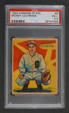 1935 Diamond Stars Mickey Cochrane PSA 3.5