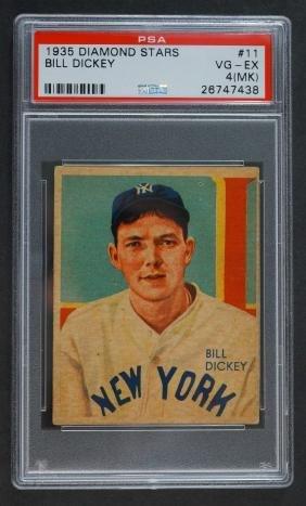1935 Diamond Stars Bill Dickey PSA 4 MK