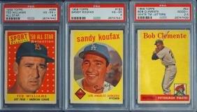 Three 1958 7 1959 Topps BB Cards PSA Graded