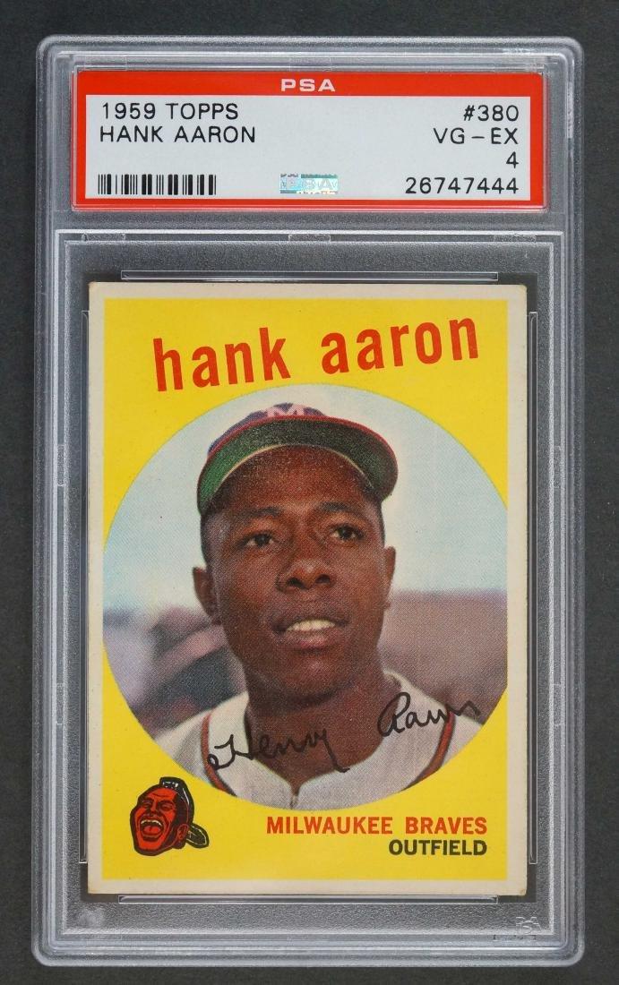1959 Topps #380 Hank Aaron PSA 4