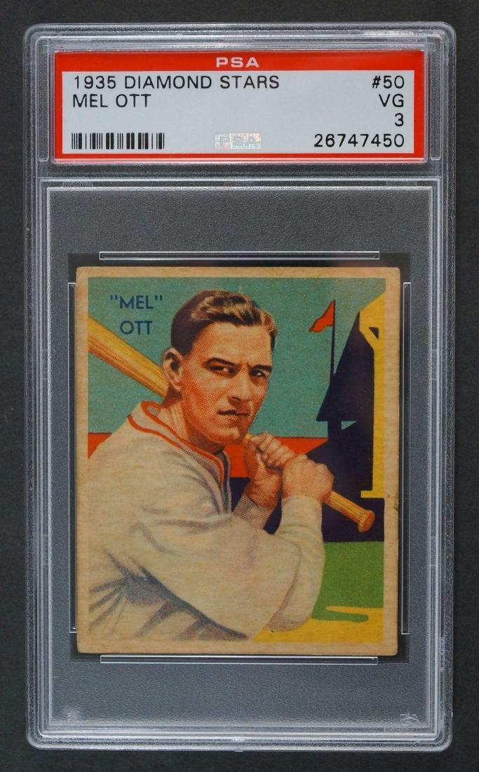 1935 Diamond Stars Mel Ott PSA 3