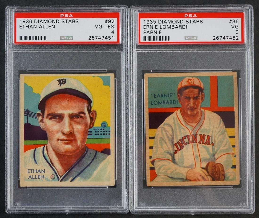 1935-36 Diamond Stars Allen and Lombardi PSA 3,4