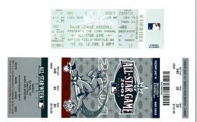 2001 Major League BB All-Star Game Tickets