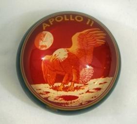 Apollo 11 Space Flown Artifacts Paperweight NASA