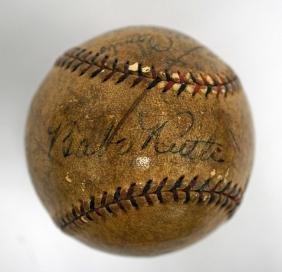 1928 New York Yankees Team Signed Ball Huggins COA