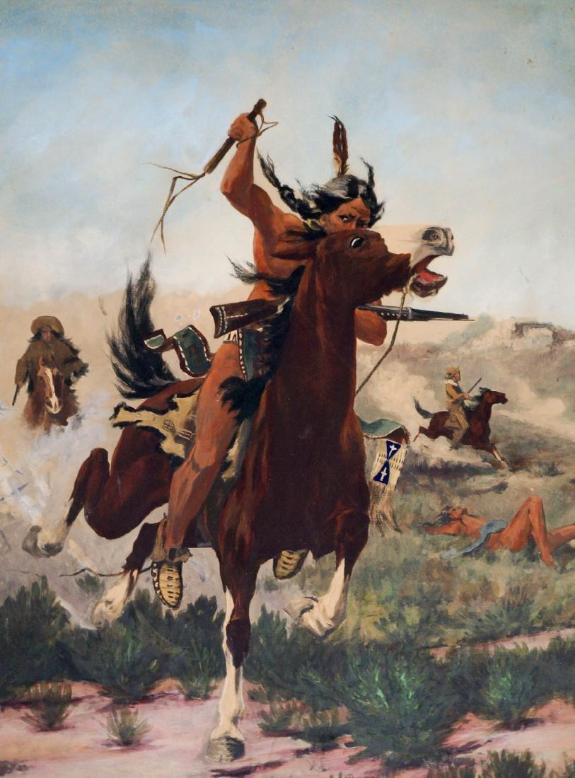 Edgar Paxson (Montana, 1852-1919) Original Artwork