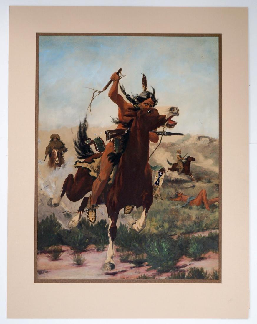 Edgar Paxson (Montana, 1852-1919) Original Artwork - 2
