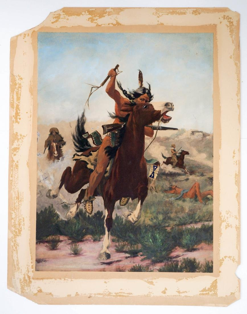 Edgar Paxson (Montana, 1852-1919) Original Artwork - 3