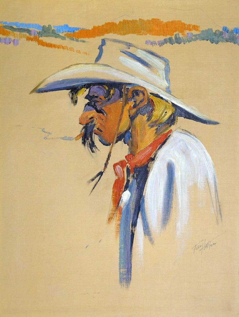 Fred Harman (1902-1982) Original Oil on Canvas
