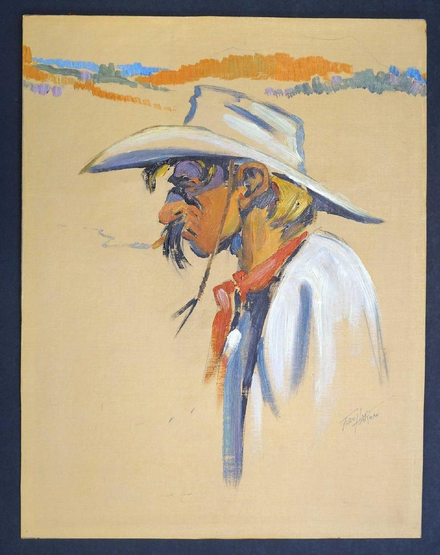 Fred Harman (1902-1982) Original Oil on Canvas - 2