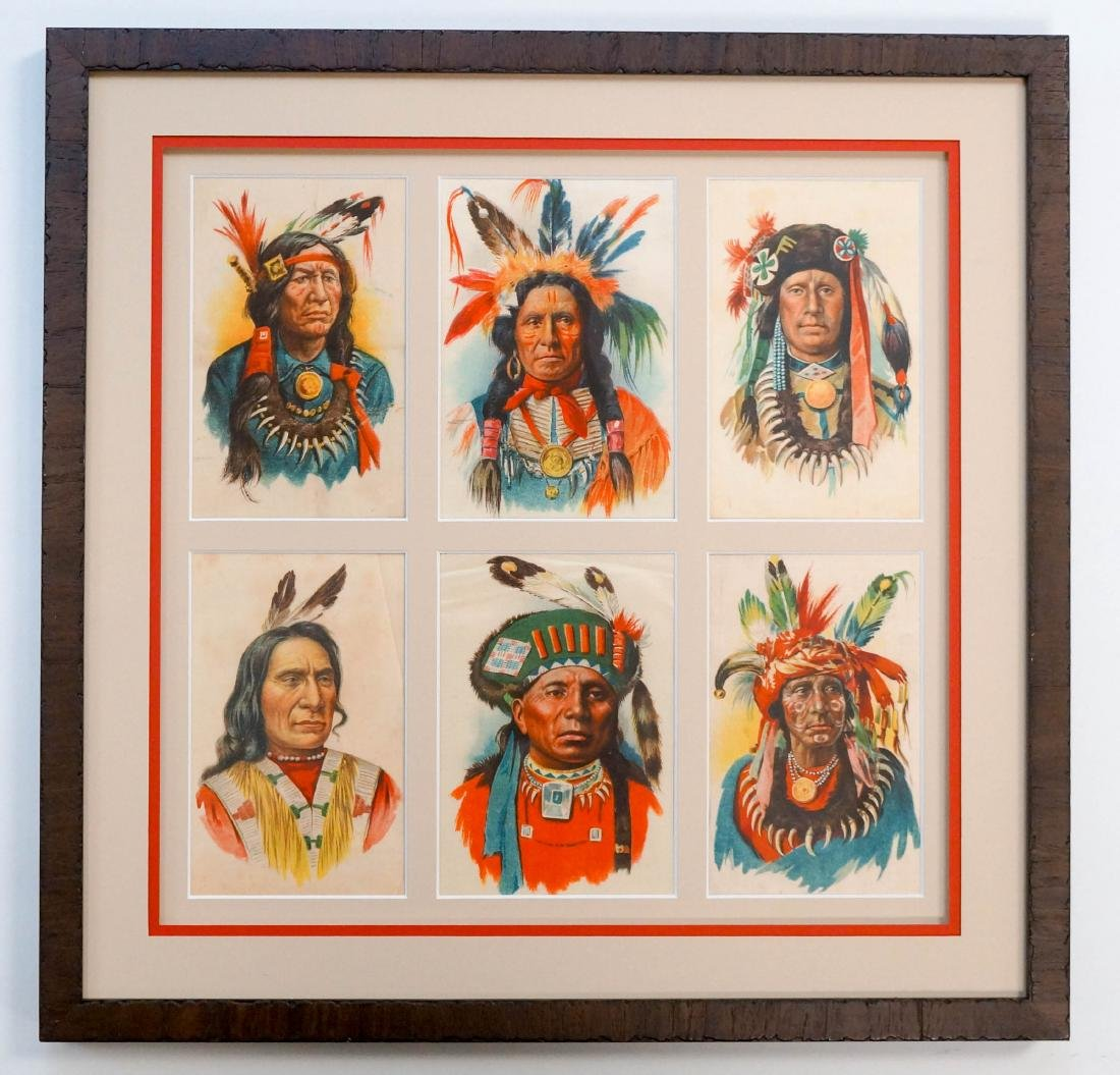 Group of Tokio Tobacco Silks, Native Americans
