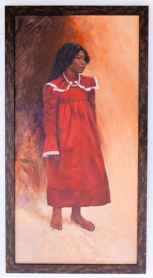Bill Hughes (CA/AZ, 1932-1992) Framed Oil painting - 2