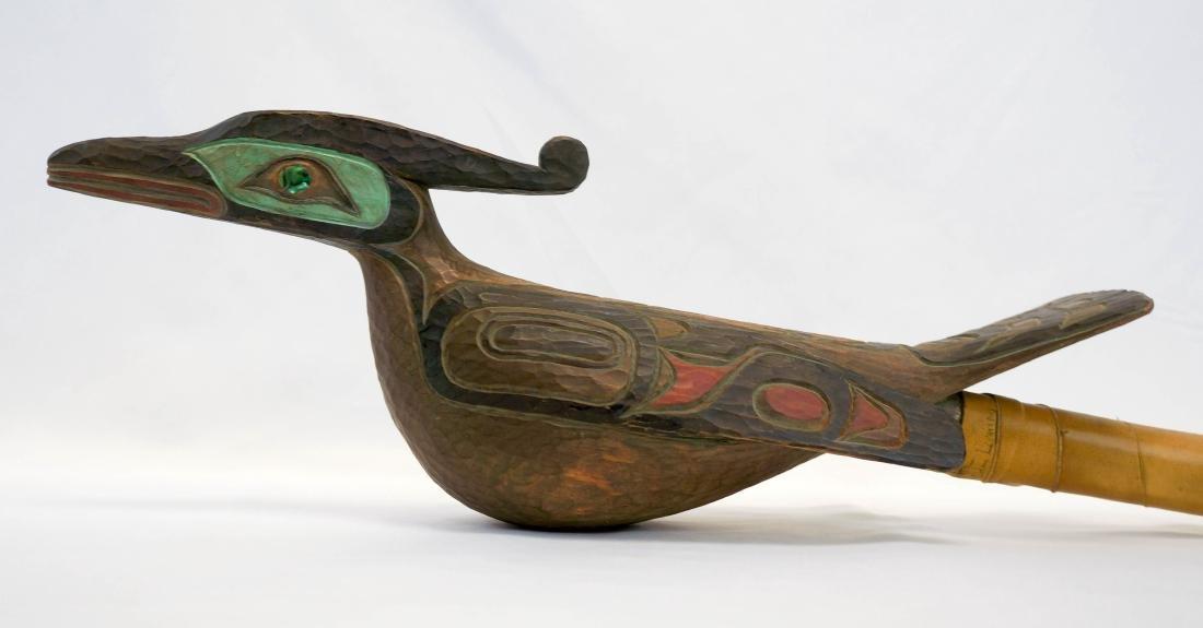Odin Lonning Signed Tlingit Rattle
