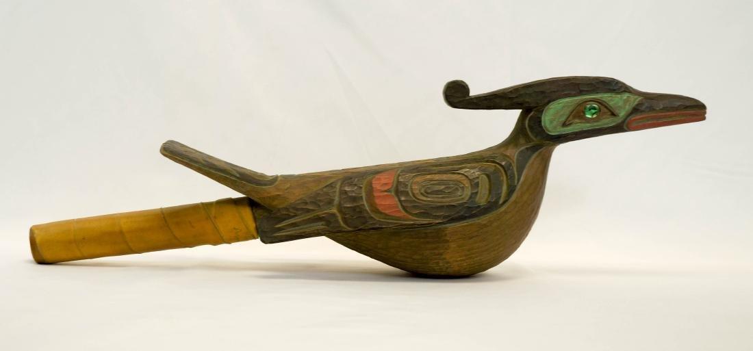 Odin Lonning Signed Tlingit Rattle - 2