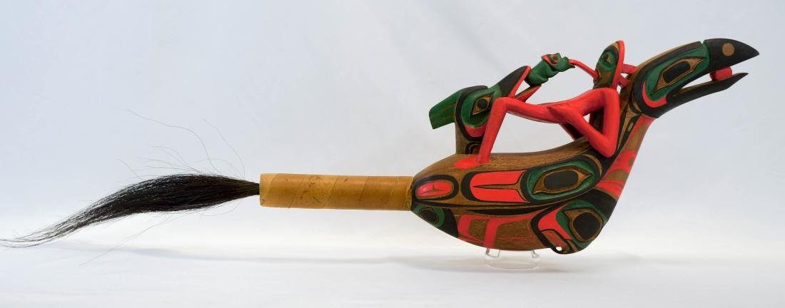 Shaman Rattle Northwest Coast Carving Panniniak - 2