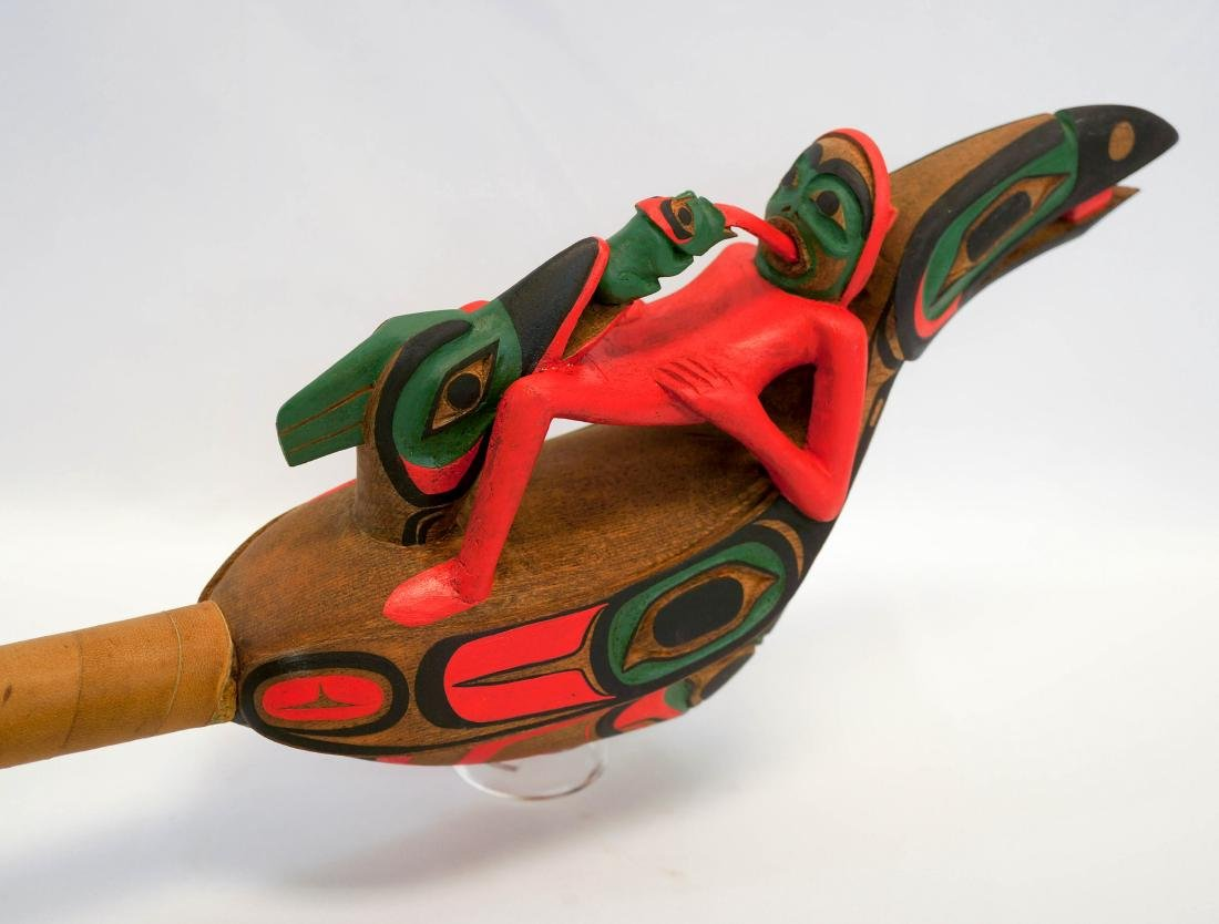Shaman Rattle Northwest Coast Carving Panniniak - 4