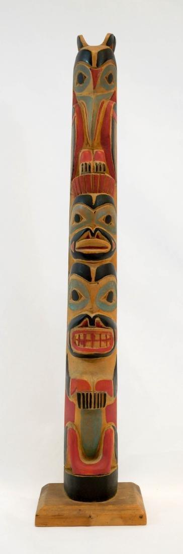 Circa 1930 Carved Alaskan Totem