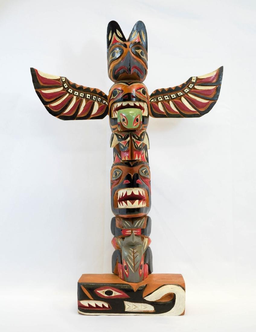 Shandley Williams Northwest Coast Signed Totem