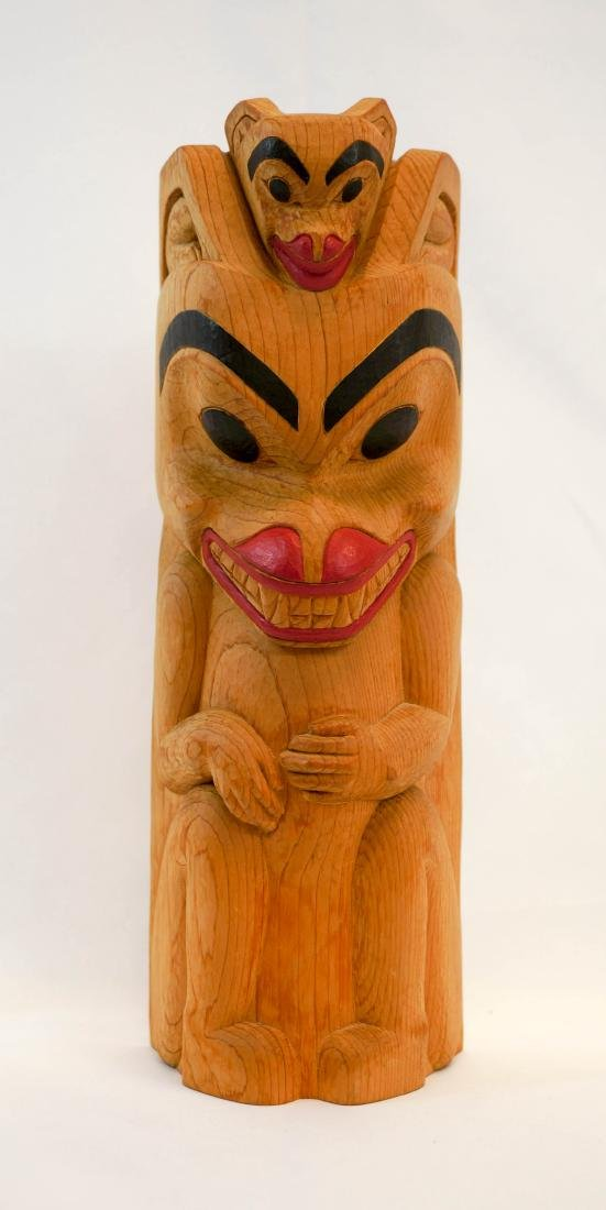 R. Tait Signed Northwest Coast Carving
