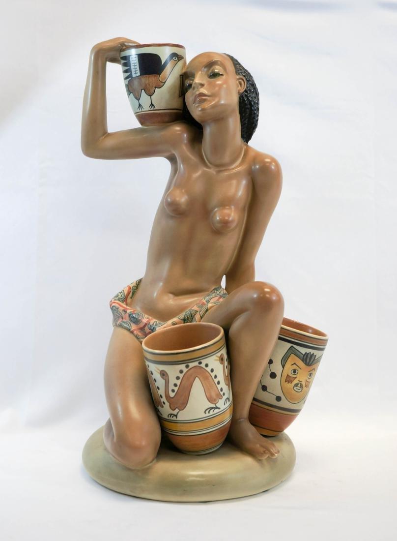 Important Lenci, Torino Italy Pottery Figure