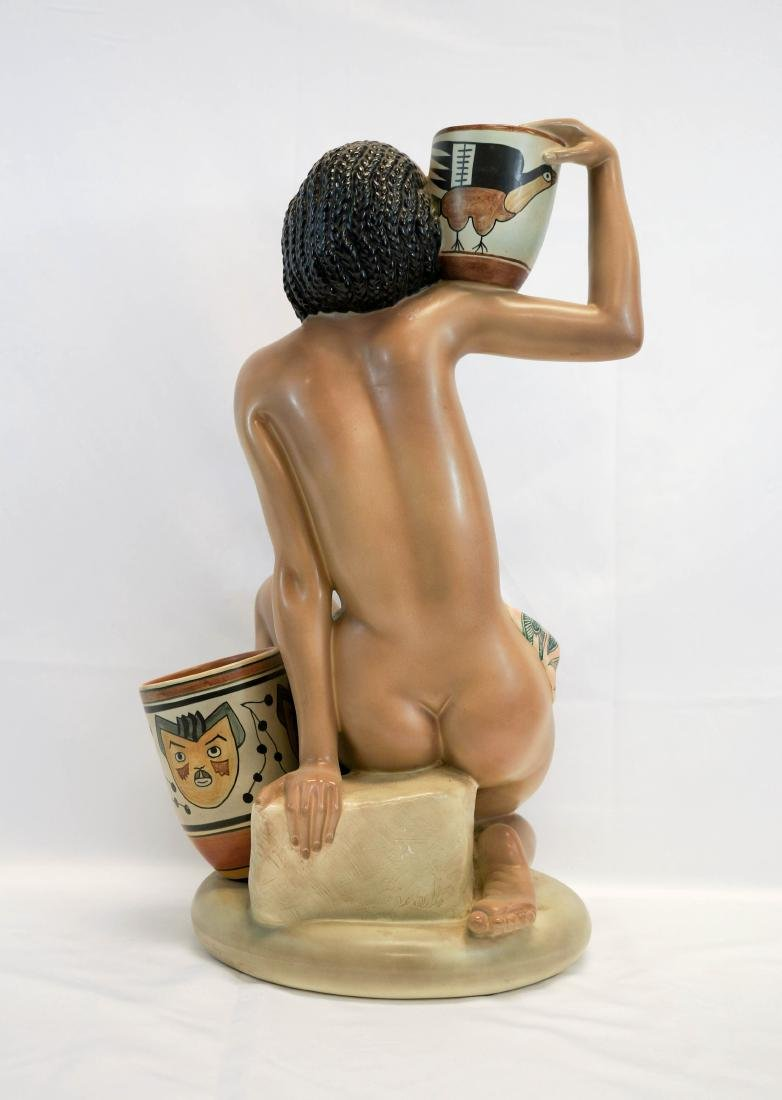 Important Lenci, Torino Italy Pottery Figure - 5