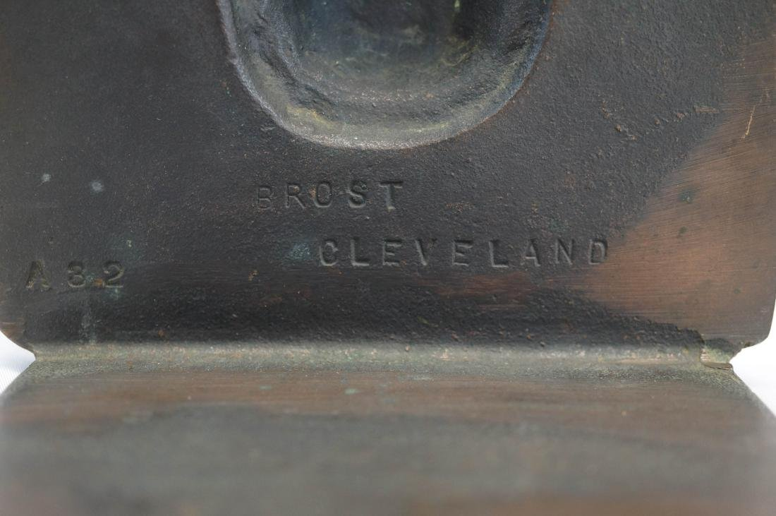 Brost, Cleveland Signed Bookends - 2