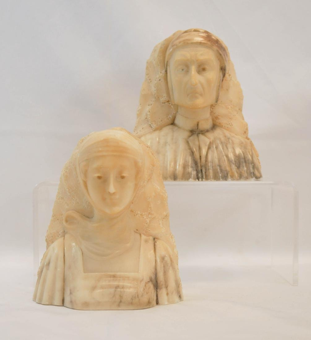 A. Gennay Signed Italian Alabaster Bookends