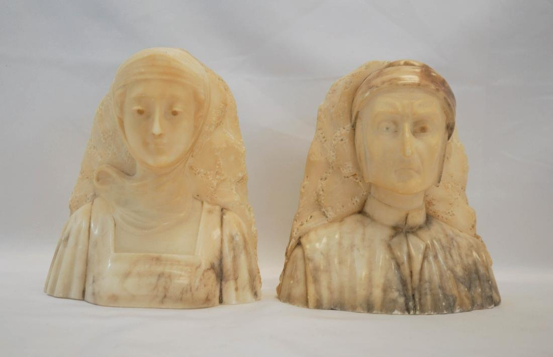 A. Gennay Signed Italian Alabaster Bookends - 2