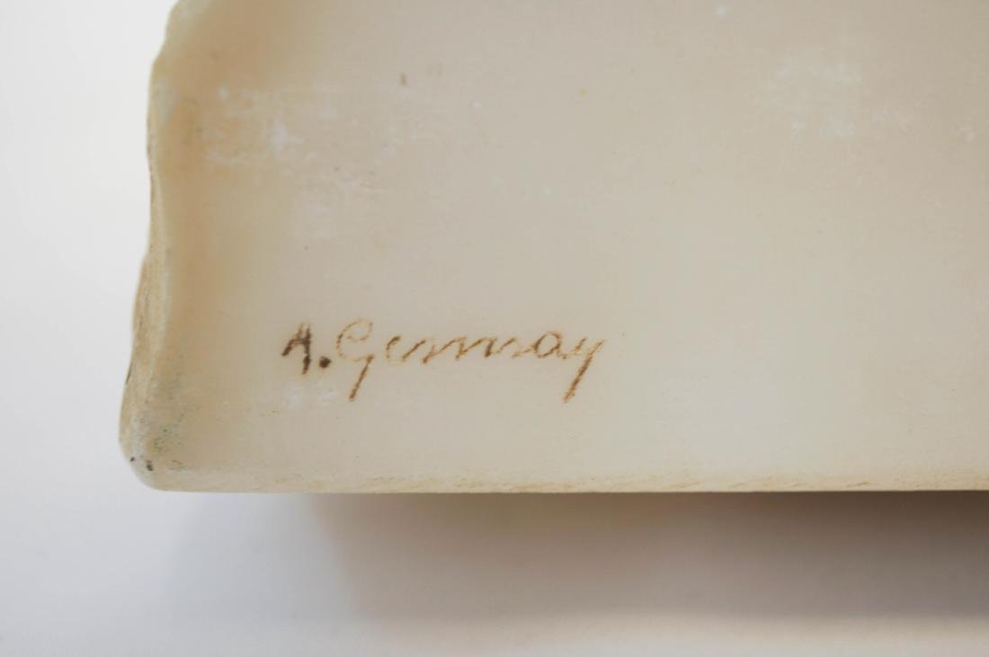 A. Gennay Signed Italian Alabaster Bookends - 3