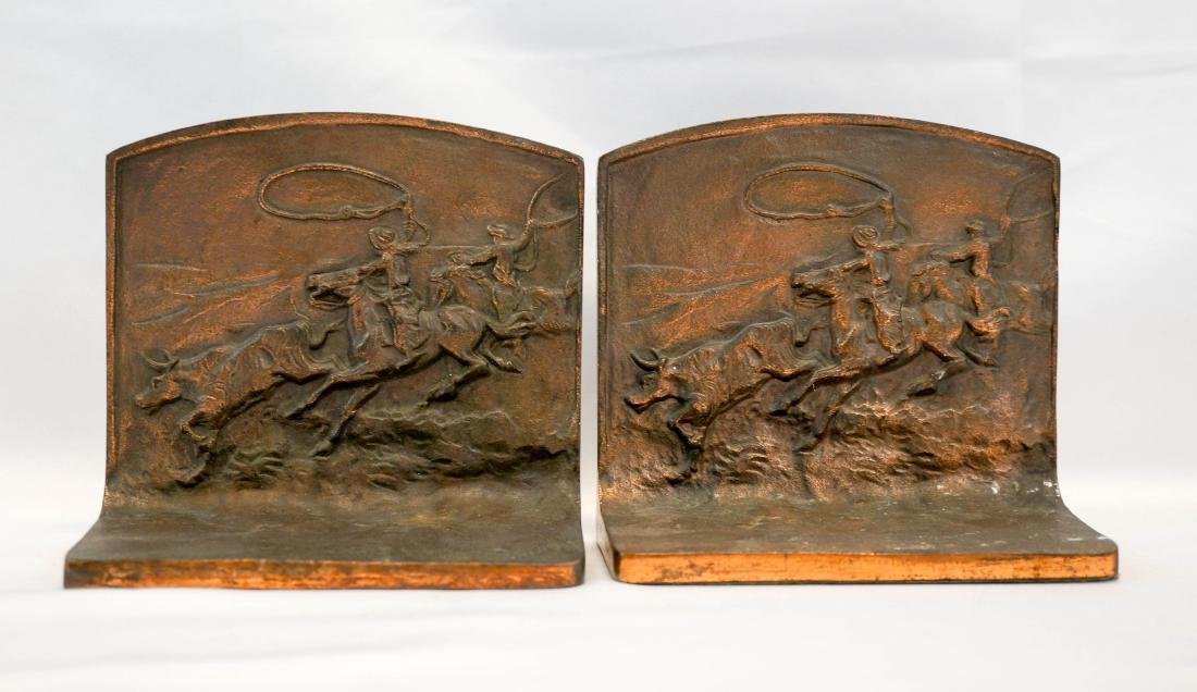 Antique Western Bookends, The Round Up